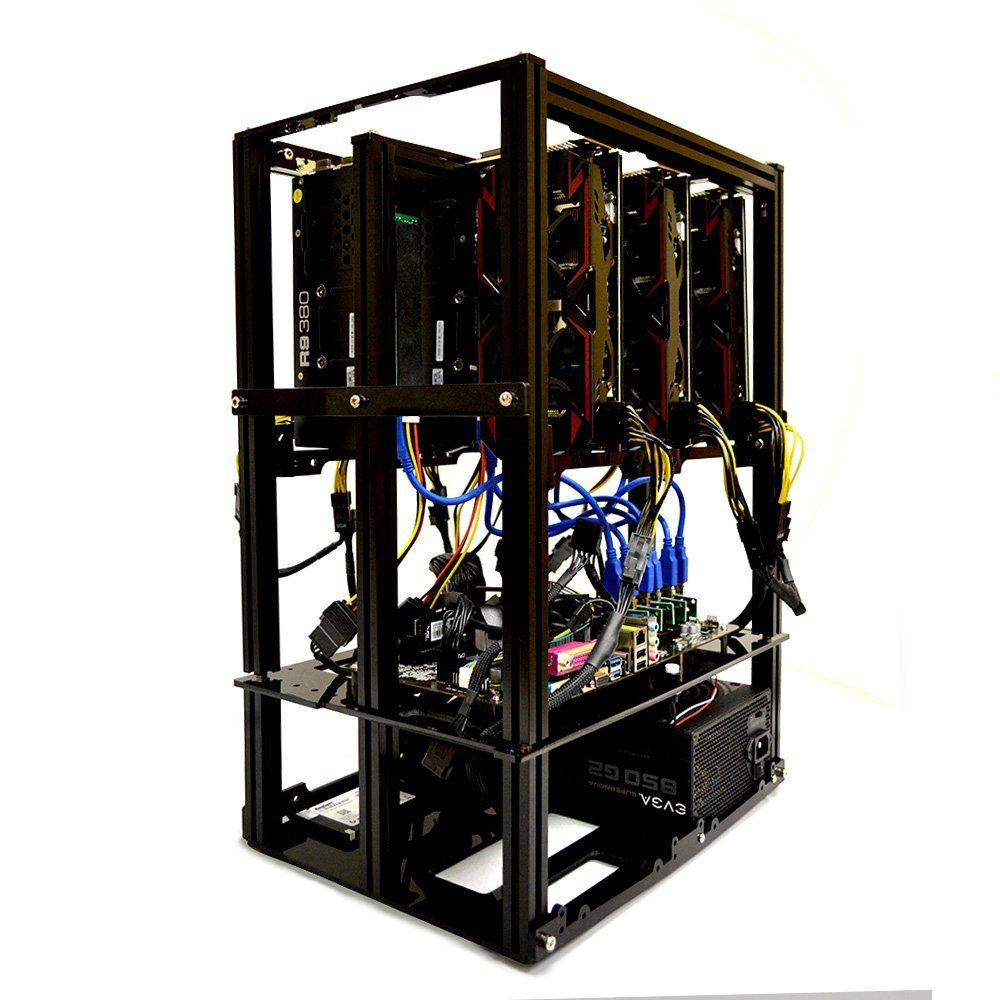 6 1 Gpu Mining Rig Open Air Frame Computer Case Chassis
