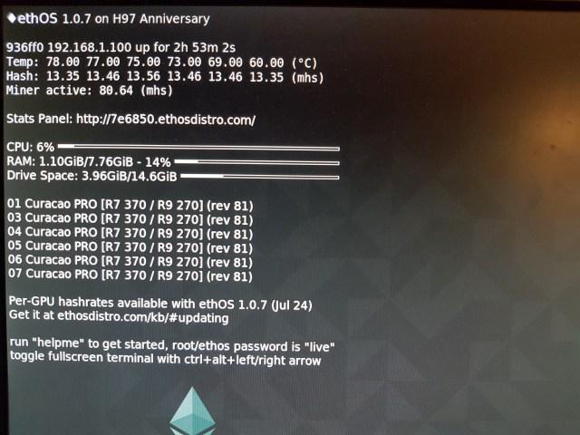 Asus Strix AMD Radeon R7 370 4GB Maximum Hashrate