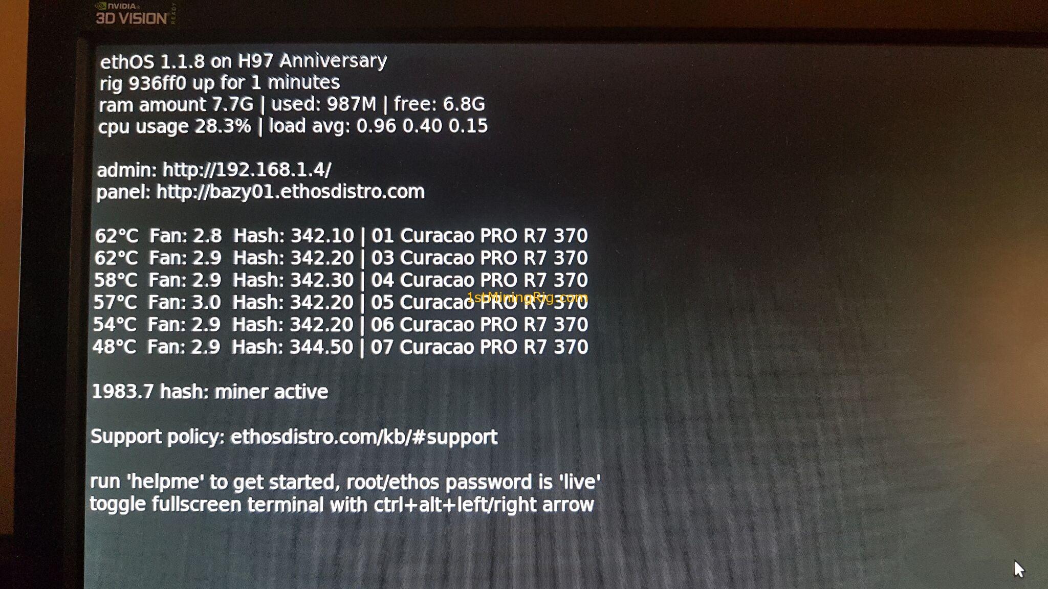 Radeon R7 240 Mining Gpu Mining Rig Starter Kit With CpuMarina Service