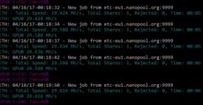 RX580 29.6 MHs on bios mod and oc clocks mining ethereum