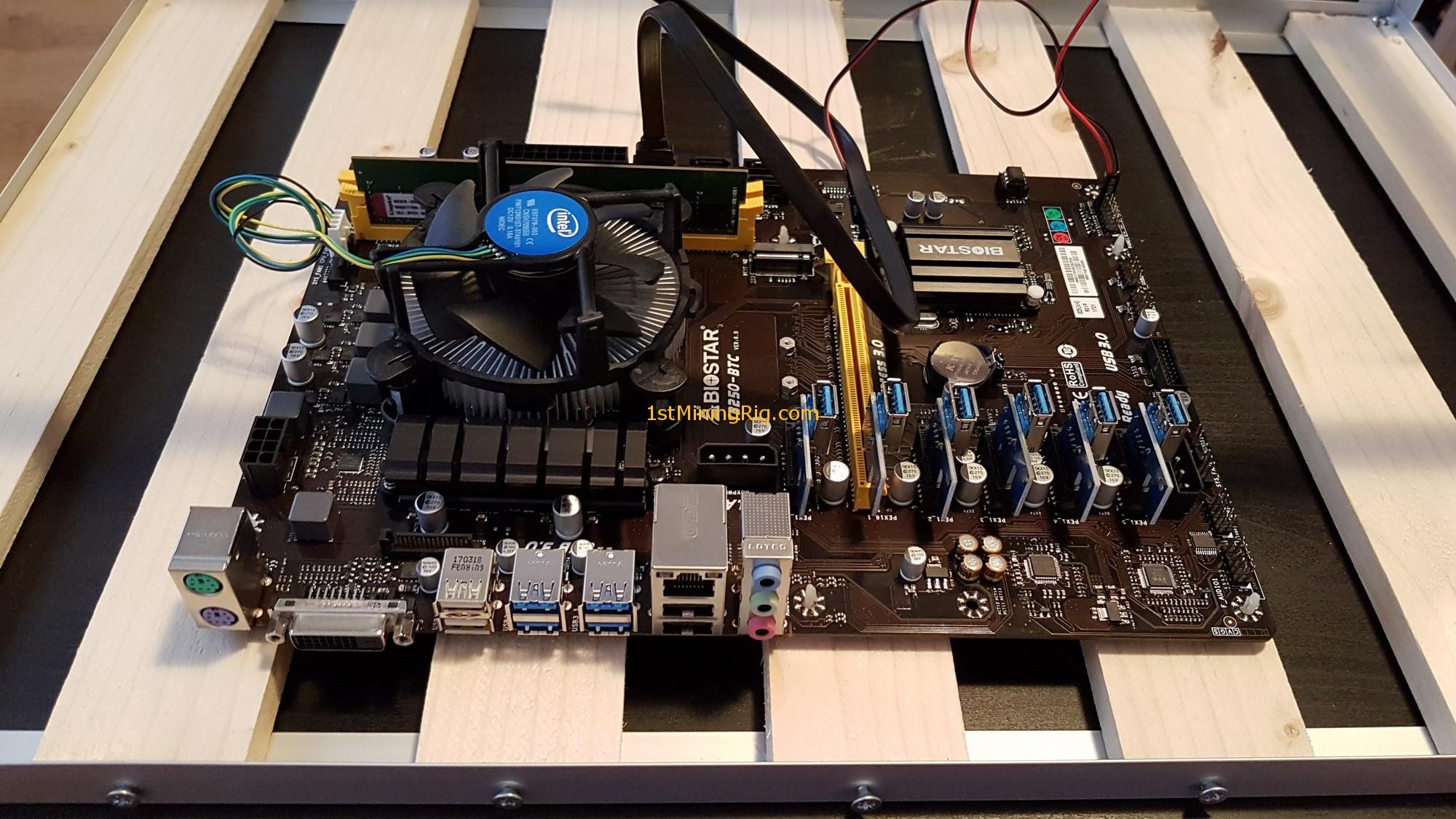 Nvidia Geforce Gtx 1070 Mining Performance Review 1st Rig Vga Evga Ftw Gaming Acx 30 8gb Gddr5 Gigabyte 1 Motherboard Cpu Ram Ssd