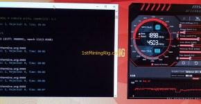 MSI GeForce GTX 1050 TI GAMING X 4G Ethereum Mining Performance Overclocked