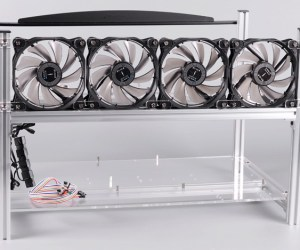 1stMRB Stackable 6x GPU Aluminum Mining Rig Frame Case – Silver 1