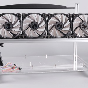 1stMRB Stackable 6x GPU Aluminum Mining Rig Frame Case - Silver 1