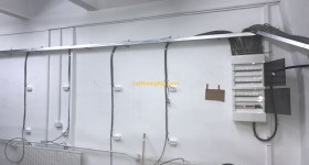 1stMiningRig Hosting Room Wall Plugs and Electricity Panel