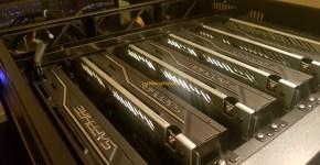 1stMiningRig Rackmount Server Case FANS + GPUs
