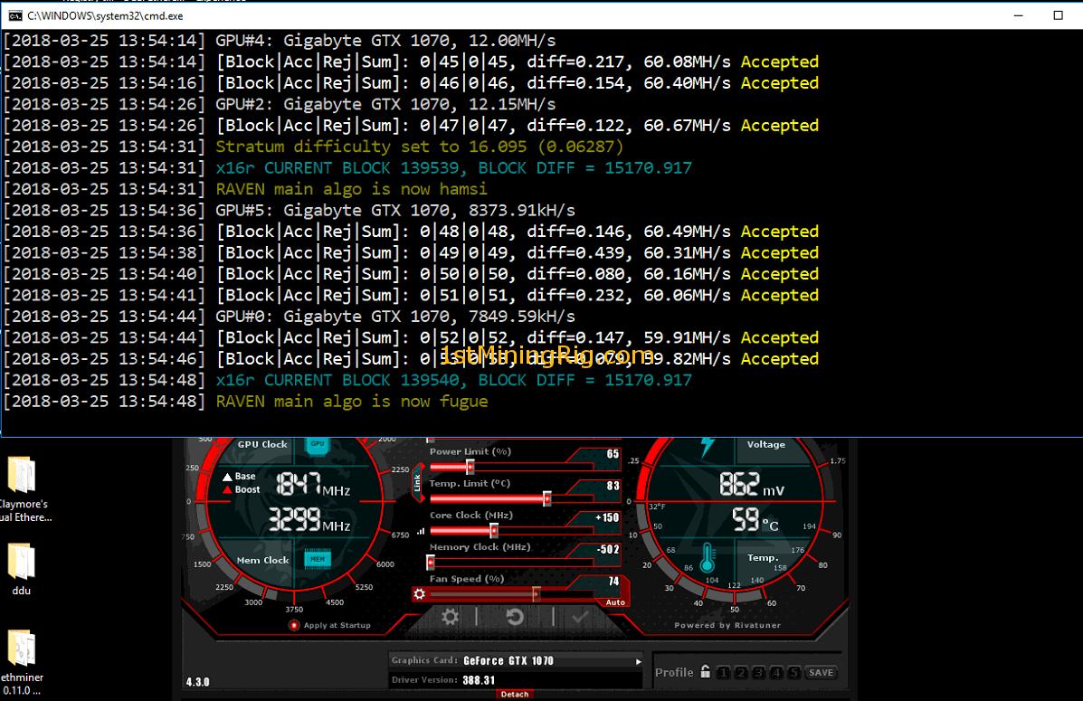 How to Mine Ravencoin (RVN) with AMD / Nvidia GPU and CPU - 1st