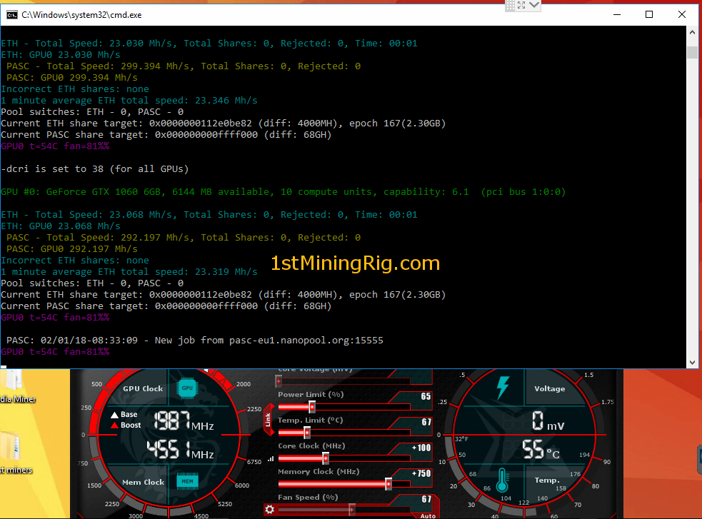 easiest to mine cryptocurrency 1060