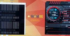 MSI GTX 1080 Ti Nexus NXS SHA3 Mining Hashrate Overclock