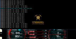 MSI GTX 1060 T-Rex 0.5.1 PHI2 Algorithm Mining Hashrate