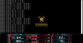 MSI GTX 1070 T-Rex 0.5.1 C11 Algorithm Mining Hashrate