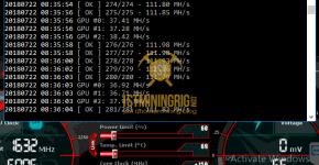 MSI GTX 1080 Ti T-Rex 0.5.1 PHI1612 Algorithm Mining Hashrate