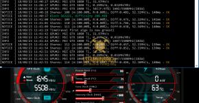 MSI GTX 1080 Ti z-Enemy Timetravel Machine MAC Mining Hashrate