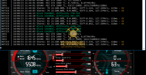 MSI GTX 1080 Ti z-Enemy Tribus DNR Mining Hashrate