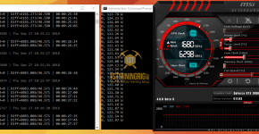 Gigabyte RTX 2080 Nexus SHA3 Mining Hashrate and Power Draw