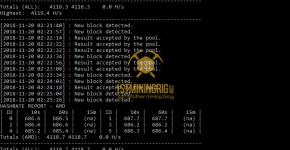 RX 580 8GB Monero CryptoNightV8 Mining Power Draw with XMR Aeon Stak Miner