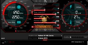 RX 580 8GB Monero CryptoNightV8 Mining Power Draw with XMR Stak Miner