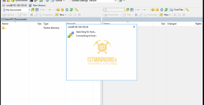 WinSCP BlackMiner F1+ Connection 2