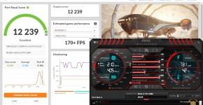 gigabyte rtx 3080 vision 3dmark benchmark overclock