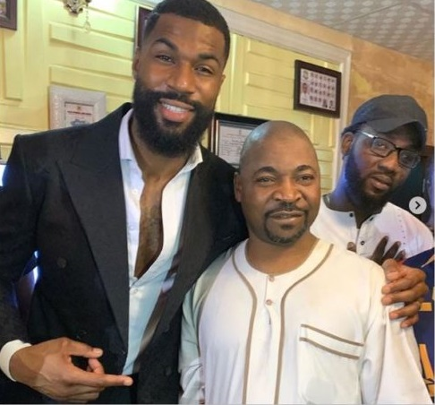 BBNaija star, Mike meets MC Oluomo (Photos)