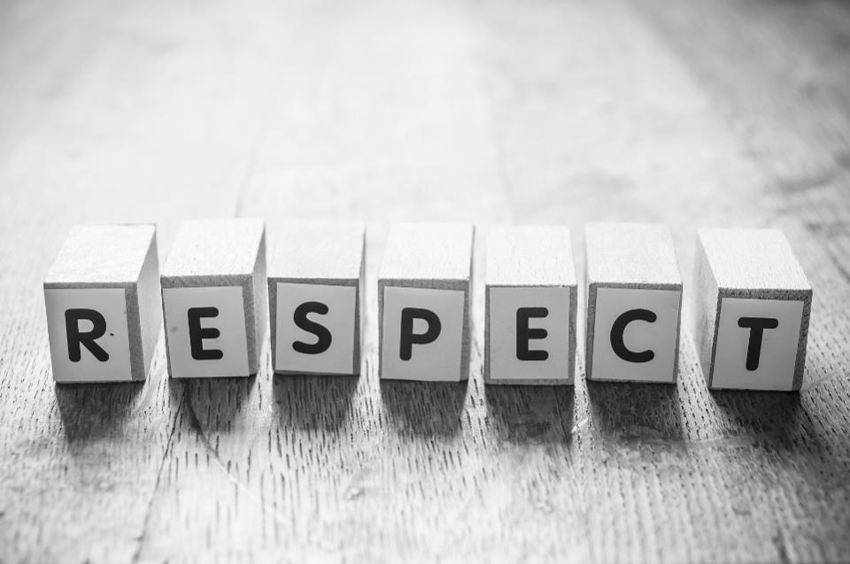 How to maintain respect of others in your work environment