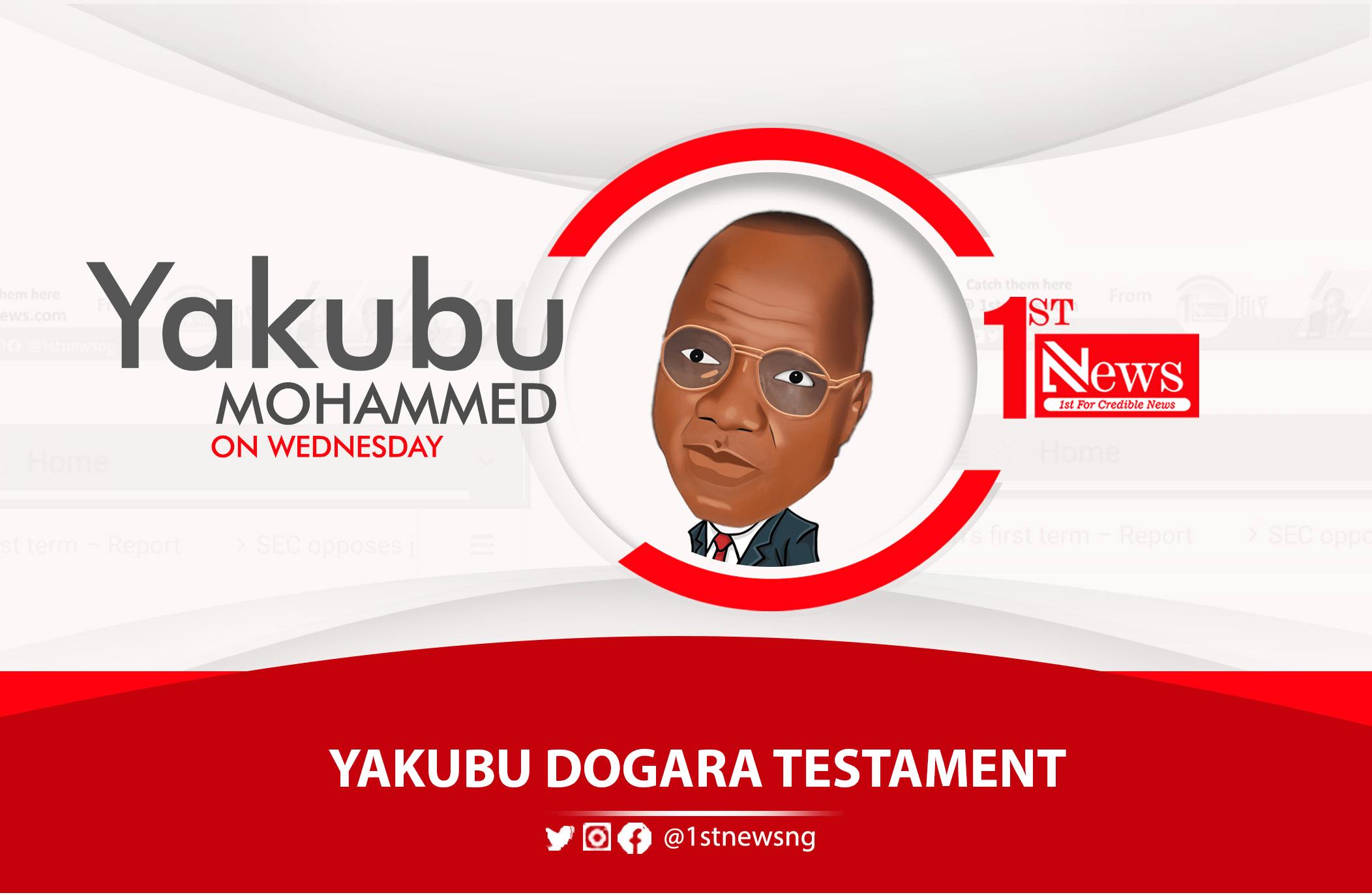 Yakubu Dogara Testament – Yakubu Mohammed