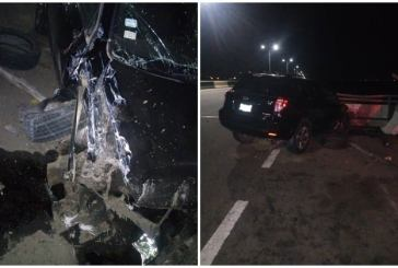 Lagos Lockdown: RRS rescues driver in lone accident on 3rd Mainland bridge