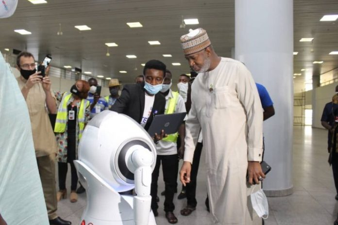 Robots adorn Abuja airport as it reopens