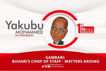 Gambari: Buhari's Chief of Staff: Matters arising - Yakubu Mohammed