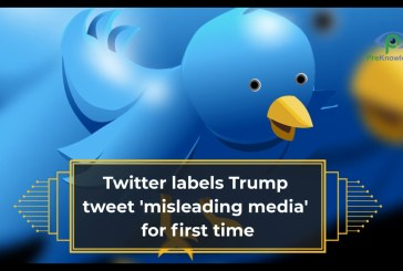 Twitter labels Trump tweet 'misleading media' for first time