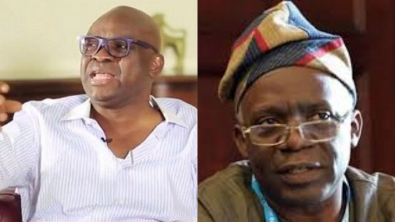 Fayose mocks Falana: Go to court if you didn't accept N28m bribe from Magu, stop acting saintly