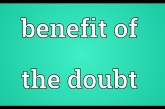 How to give people the benefit of the doubt