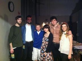 Me and my boyfriend with members of the band Magic Man.