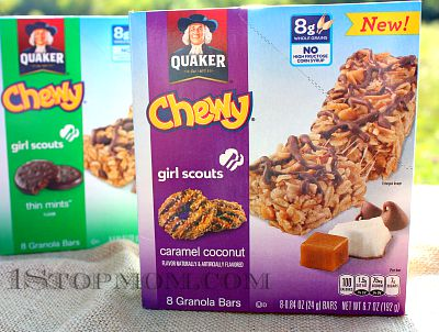 1StopMom New Quaker Chewy Girl Scout Granola Bars Plus A