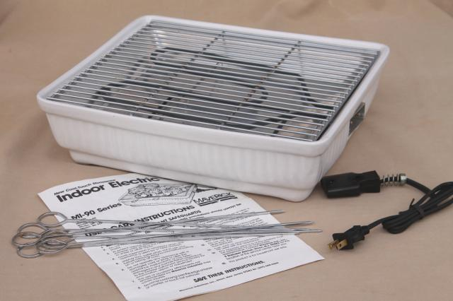 Maverick MI 90 Indoor Electric Grill Table Top Cooker W Accessories Amp Instructions