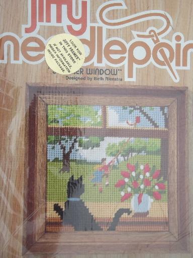 Complete Set Of Four Seasons Jiffy Needlepoint Kits