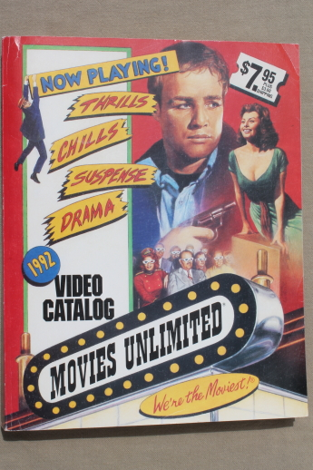 Movies Unlimited Video Catalog Vintage 1992 Huge Wish Book 600 Pages