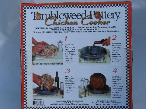 Tumbleweed Pottery Chicken Cooker In Original Box Never Used