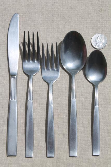 Vintage Montgomery Ward Stainless Steel Flatware Estate