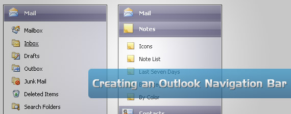outlook-drop-down-multi-level-menu-navigation