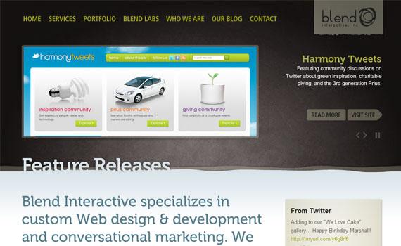 Blend-interactive-looking-textured-websites