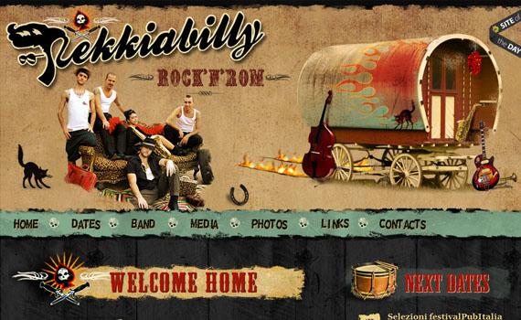 Rekiabilly-looking-textured-websites