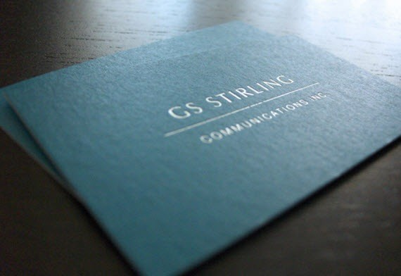 creative minimal business card design inspiration GS-Stirling-minimal-business-cards