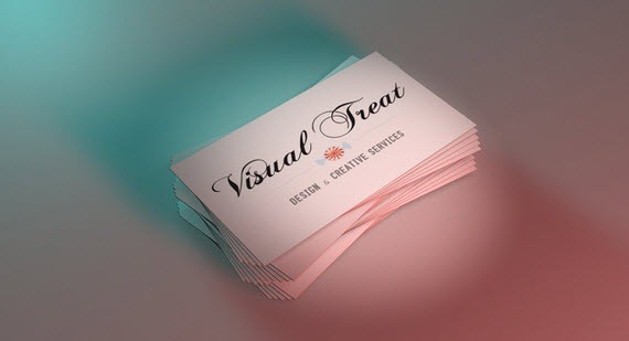 creative minimal business card design inspiration visual-treat-minimal-business-cards