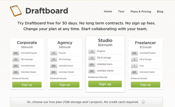 Draftboard-pricing-charts-best-examples-tips-inspiration
