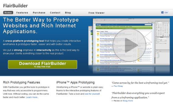 Flairbuilder-free-premium-wireframing-webdesign-tools