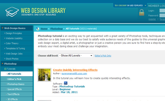 Library-sites-submit-web-design-tutorials
