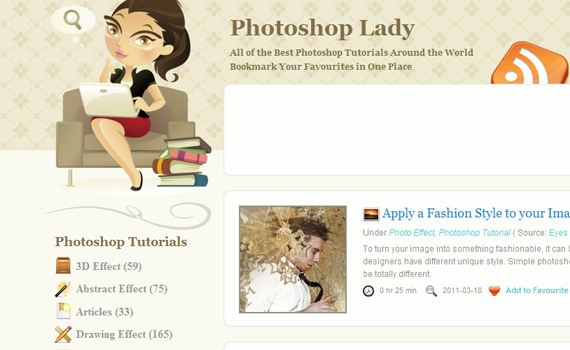 Photoshop-lady-sites-submit-web-design-tutorials