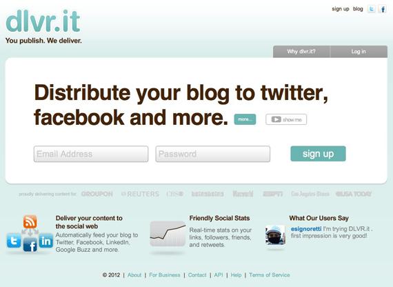 Dlvr it social media promotion tool