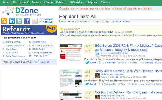 Dzone-websites-promote-articles-social